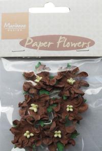 Flowers Curly Dark Brown 20 mm