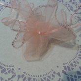 Round Organza Bag Light Pink