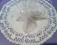 Round Organza Bag White