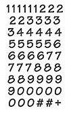 Stickers Siffror Svarta