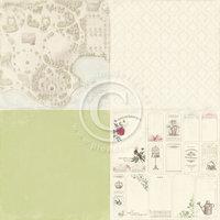 """Vintage Garden/6x6"""" Garden Sketch"""