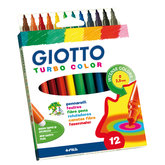 Tuschpennor Giotto Turbo Color 12-pack