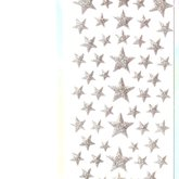 Stickers Puffy Stars Silver