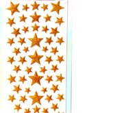 Stickers Puffy Stars gold