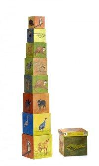 Pyramide Cubes Djungel animals