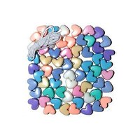 Heart-shaped  Beads 62 pcs