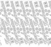 Peel off stickers Konfirmation / Silver