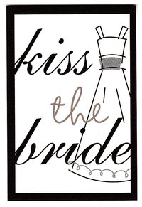 Die Cut Kiss the Bride