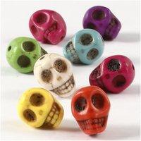 Howlite Skulls 32 pcs