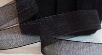 Organza Ribbon Black 10 mm