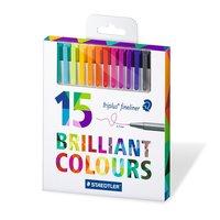 Triplus Fineliner Brilliant Colours 0,3 mm 15-pack