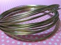 Aluminiumtråd Antikt guld 1,5mm/6 m