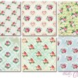 Pappersset Shabby Chic Small Roses18 st