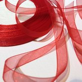 Organza Ribbon Red 10 mm