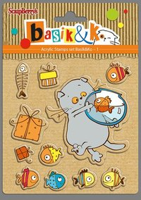 Clear  Stamps Basik & K Fishes