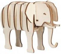 3-d pussel Elefant IQ-test