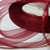 Organza Ribbon Bordeaux 10 mm