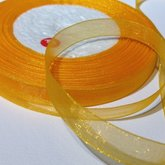 Organza Ribbon Amber 10 mm
