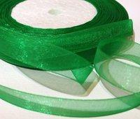 Organzaband Grön 10 mm