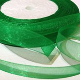 Organza Ribbon Green 10 mm