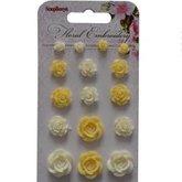 Blomdekorationer Floral Embroidery 2 Resin