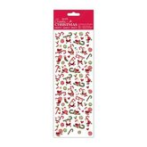 Stickers Santa Candy Canes Glitter