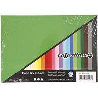 Kartong A4 Blandade färger 30 ark