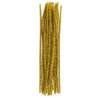 Pipe Cleaners  Gold 30 cm 25 pcs