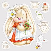 Clear  Stamps Strawberry Bunny/Summer Joy