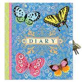 Dagbok med lås Beautiful Butterfly