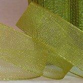 Organza Ribbon Green 10 mm