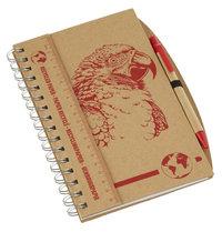 Anteckningsbok med penna A5/Papegoja