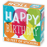 Stickers Happy Birthday/Rulle