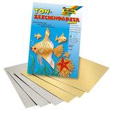 Guld- och silverpapper 10 ark A4