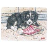 Minipussel Hund med träsko
