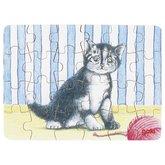 Mini puzzle Cat with yarn