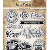 Clear stamps Auto Vintage Garage