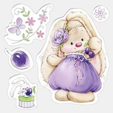 Clear  Stamps Bunny and Plums