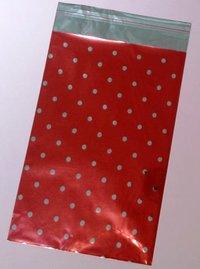 Presentpåse Röd med stora prickar