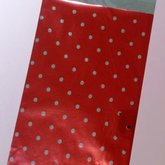 Gift bag Red with large dots
