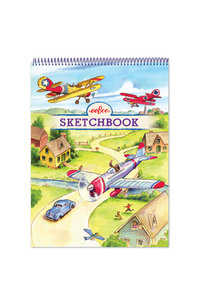 Sketchbook/Ritblock Red Airplane eeBoo