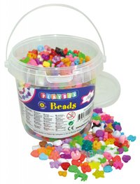 Plastic Beads in Jar
