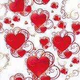 Servett Hjärtan Swirls