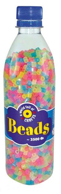 Beads in bottle  3500 pcs  Neon