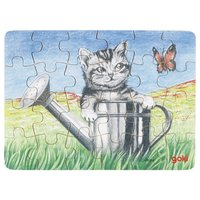 Mini puzzle  Cat in water pitcher