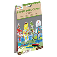 Paper Doll Chain Robots