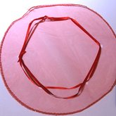 Round Organza Bag Red
