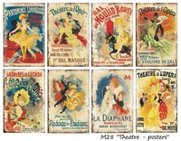 Pappersset MIni/Theater posters