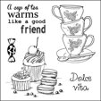 Clearstamps Afternoon Tea Dolce Vita