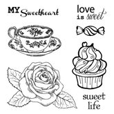 Clear  Stamps Afternoon Tea Dessert